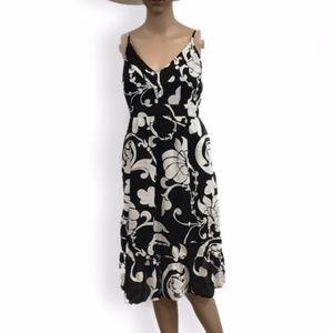 Black and White linen sundress Old Navy size L